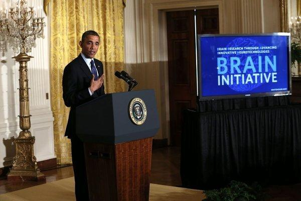 President Obama announces the administration's BRAIN (Brain Research through Advancing Innovative Neurotechnologies) Initiative at the White House on Tuesday.