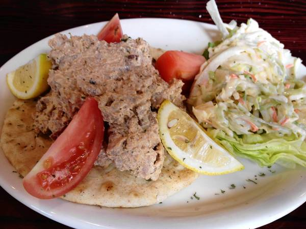 Blackened Tuna Salad at Schooner's