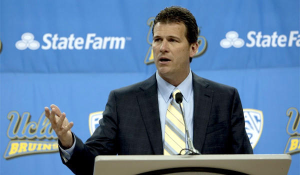 Steve Alford speaks to the media after being introduced as UCLA's new basketball coach.