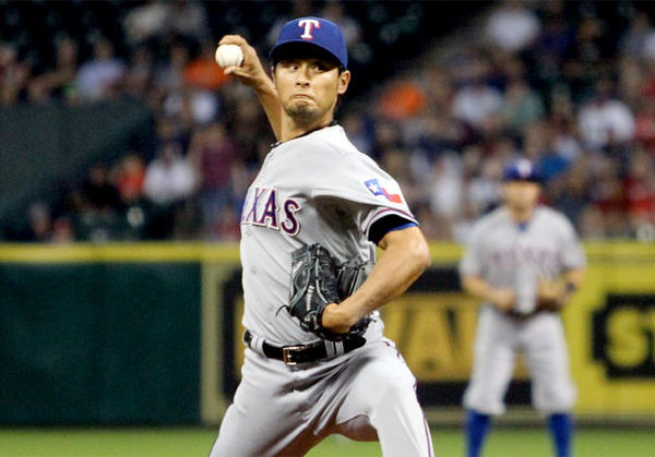 Rangers pitcher Yu Darvish struck out 14 Houston Astros on Tuesday, but fell one out shy of a perfect game.