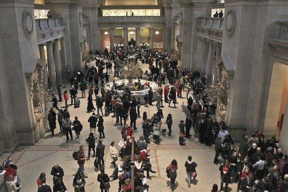 Visitors at the Metropolitan Museum of Art in New York City, one of the sites affiliated with the Museums on Us program.