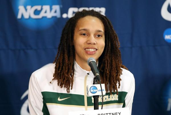 Baylor center Brittney Griner would welcome a chance to play in the NBA.