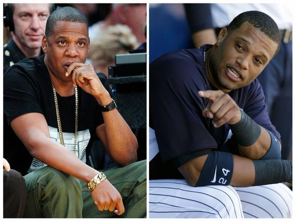 Show him the money! Jay-Z, left, will play Jerry Maguire for Yankee star Robinson Cano.