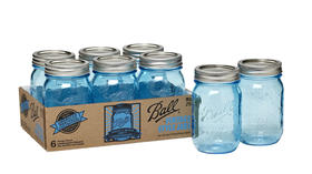 Ball canning jars: 100th anniversary celebrates classic blue look and logo on Mason jars