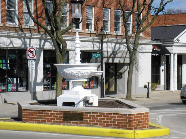 Citizens for Glen Ellyn Preservation are worried that a streetscape plan being considered by village officials will move this horse trough, which dates back to 1907. It was designated a village landmark in 2012.