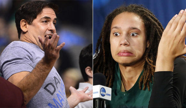 Dallas Mavericks owner Mark Cuban indicated that he's open to the possibility of drafting former Baylor women's basketball star Brittney Griner.