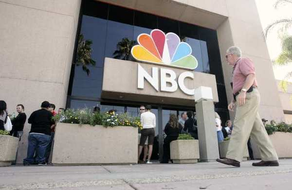 People line up to see the Tonight Show at the NBC studios in Burbank.