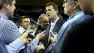 Steve Alford was formally introduced as UCLA's basketball coach Tuesday, at center court in Pauley Pavilion. He mentioned John Wooden three times during his first three minutes in the Westwood spotlight.
