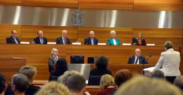 Gail Furness, senior counsel assisting the Royal Commission into the Sexual Abuse of Children, speaks during its first public hearing in Melbourne, Australia.