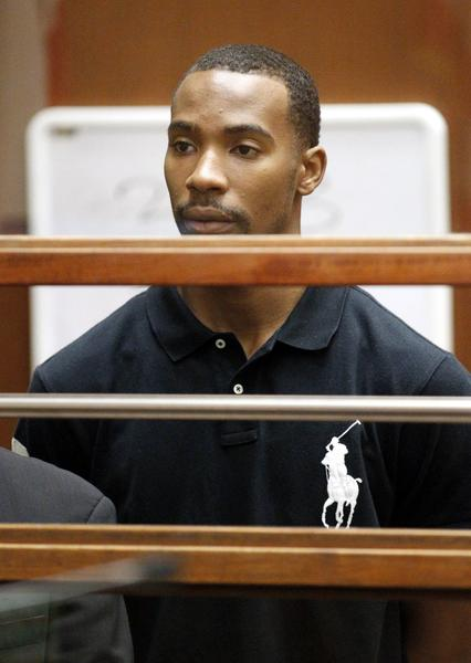 Former Lakers guard Javaris Crittenton appears in Los Angeles Superior Court for an extradition hearing in 2011.