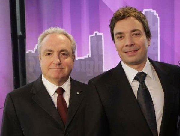 "Lorne Michaels, left, will have a bigger platform when Jimmy Fallon takes over ""The Tonight Show."""