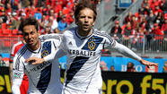 Mike Magee was named the MLS player of the month after the Galaxy forward scored a league-best five goals in March.