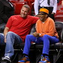 Ben Roethlisberger of the Pittsburgh Steelers and Spike Lee