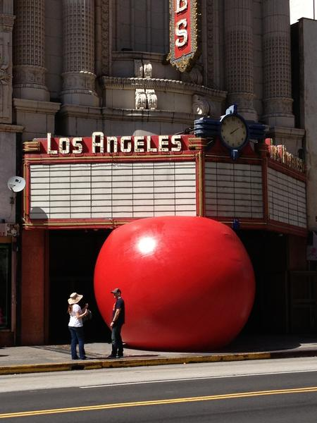 The RedBall Project made a stop in downtown Los Angeles this week as part of its 10-day tour of California.