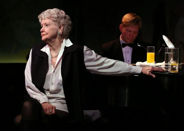 Elaine Stritch performs at the Cafe Carlyle in New York, with Rob Bowman at the piano.