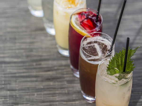 The selection of house-made sodas at Green Zebra changes to reflect seasonal ingredients.