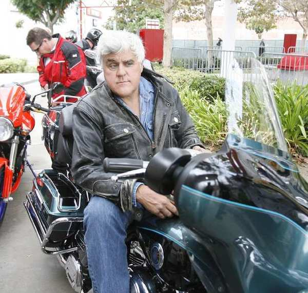 Jay Leno waits to depart for the 29th annual Love Ride in Glendale.