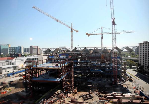 Construction of the Dr. Phillips Center for the Performing Arts, on Friday, March 29, 2013.