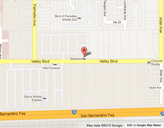 Map shows where a woman was allegedly raped by an ex-convict in Fontana.