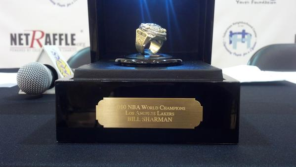 Lakers legend Bill Sharman is auctioning his 2010 Lakers championship ring, with the proceeds going to charity.