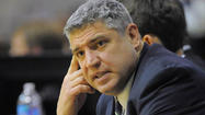 "Jimmy Patsos was introduced as Siena's new men's basketball coach on Wednesday — calling the school ""my dream mid-major"" — as his former assistant, G.G. Smith, emerged as a leading candidate to replace Patsos at Loyola."