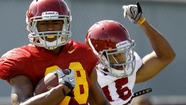 USC receiver George Farmer suffered a torn anterior cruciate ligament and a torn medial collateral ligament in his left knee and will sit out the 2013 season, a person close to the situation said Wednesday.
