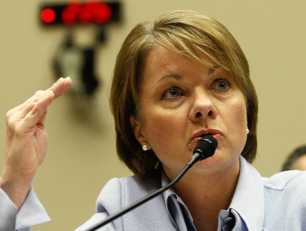 Angela Braly, shown in February 2010, resigned in August.