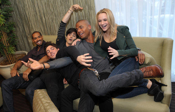 "CBS Corp. announced that encore telecasts of the popular daytime drama ""The Young & Restless"" will move to TV Guide Network this summer. The soap first airs on CBS. From left, Lamon Archey, Robert Adamson, Max Ehrich, Redaric Williams and Hunter King, cast members in ""The Young and the Restless,"" are pictured together during the Hot New Faces of ""The Young and the Restless"" media day at CBS Television City on Wednesday, Feb. 27, 2013 in Los Angeles."