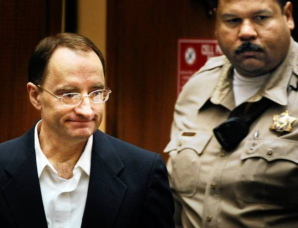 Christian Karl Gerhartsreiter enters the courtroom in Los Angeles. His defense wrapped up their case after calling two handwriting experts to testify.