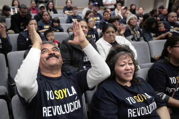 Eliazar Jacobo, 58, was among more than 100 parents and concerned citizens who showed up at Los Angeles Unified headquarters in January to deliver signatures in hopes of invoking the parent-trigger law for low-performing 24th Street Elementary.