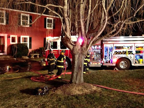 An unconscious man and a dog were rescued from a fire that broke out in a house on Squire Road in Monroe.
