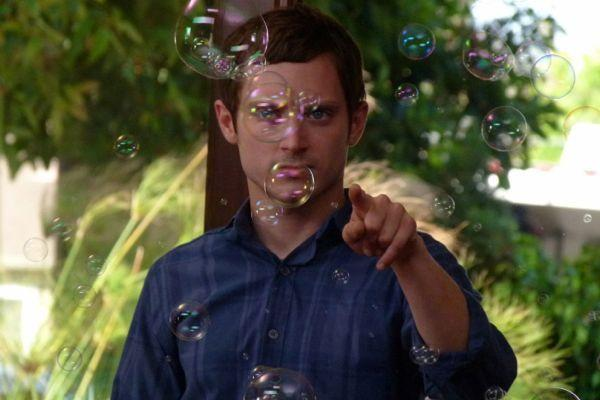 "Elijah Wood learns more than bubble tricks from his dog pal in ""Wilfred."""