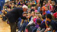 STANFORD — Centre College President John Roush had a much younger audience than he's probably used to on March 27, when he paid a visit to Stanford Elementary School.
