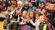 Photos: John Roush visits Stanford Elementary