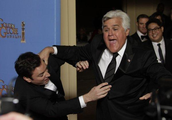 Jimmy Fallon and Jay Leno.