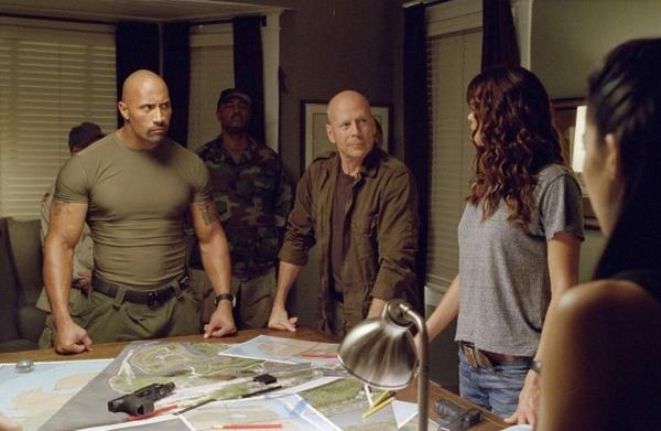 "Dwayne Johnson and Bruce Willis star in ""G.I. Joe: Retaliation."""
