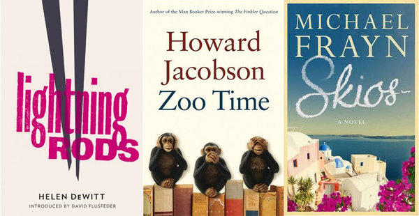 Three of the five books in the running for the Bollinger Everyman Wodehouse Prize.