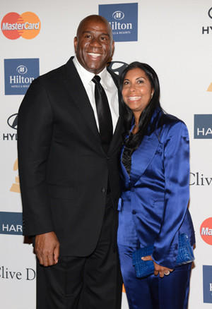 Magic Johnson and his wife Cookie.