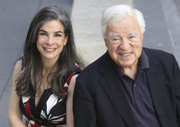 Arthur Frommer with his daughter, Pauline Frommer, in New York.