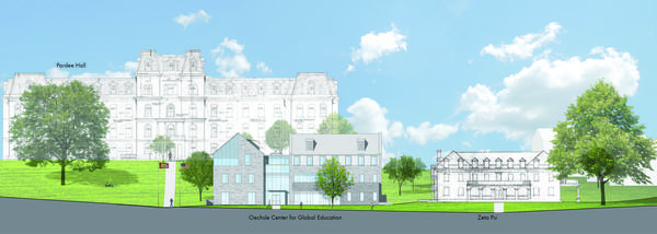 The Oechsle Center for Global Education will be built on S. College Dr. behind Pardee Hall.