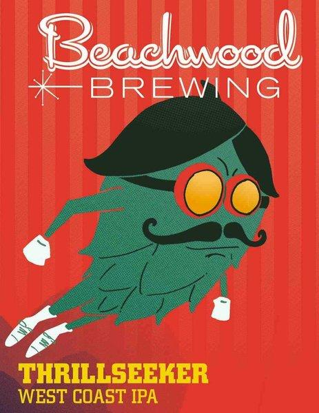 Beachwood Brewing's Thrillseeker label