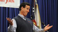 It wasn't so unlike other hints former Pennsylvania Sen. Rick Santorum has dropped regarding his unwavering dreams of picking the carpet color for the Oval Office.