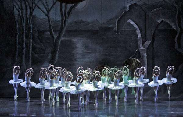 "Dancers with the Ballet Nacional de Cuba perform ""Swan Lake"" at the Segerstrom Center for the Performing Arts in 2011."