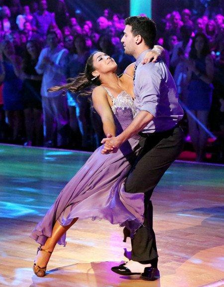 Aly Raisman and Mark Ballas perform their waltz.