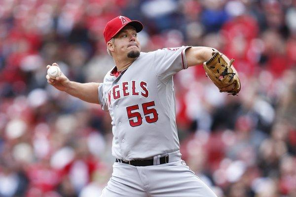 Angels starting pitcher Joe Blanton gave up three homers in a game for the ninth time in his career on Thursday against the Reds.
