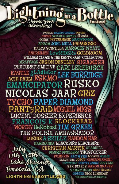 The poster for 2013's Lightning in a Bottle festival.