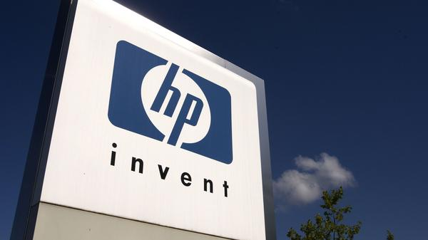 A sign outside the Hewlett-Packard headquarters in Switzerland is seen in a 2009 file photo.