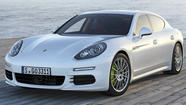 It's nip-and-tuck time for Porsche's Panamera sedan. A midlife refresh will give 2014 models an updated look, a long wheelbase option and new engine choices, including a turbocharged V-6 and a plug-in hybrid. All three variations will make their world debut April 21 at the Shanghai Auto Show.
