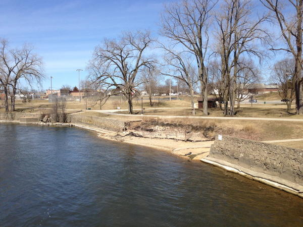 South Bend Tribune/JOSEPH DITS The city of Mishawaka is considering plans to overhaul Central Park, seen here by the St. Joseph River, redoing the landscaping, adding new shelters and paths and taking out the softball field.