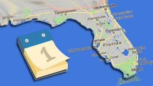 Florida travel calendar for June